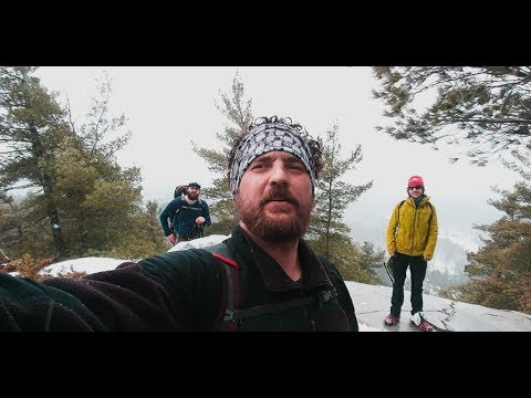 Backpacking the LaCloche Silhouette Trail in a spring blizzard