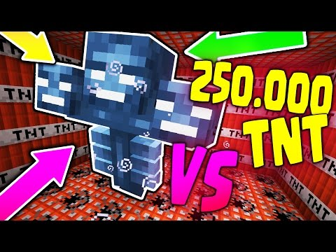 250.000 TNT VS WITHER BOSS !! - Minecraft CHALLENGE IMPOSSIBILI