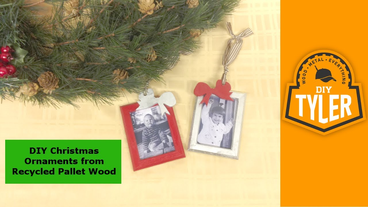 Pallet Wood Christmas Ornament Picture Frames 017 - YouTube
