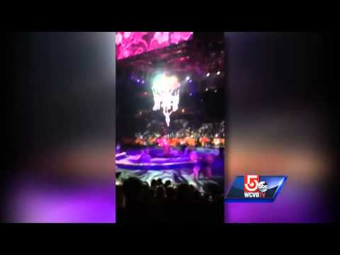 WARNING: VIDEO SHOWS ACTUAL FALL OF PERFORMERS