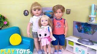 Baby Dolls Mommy & Daddy Surprise Baby Doll w/ New Kitty!