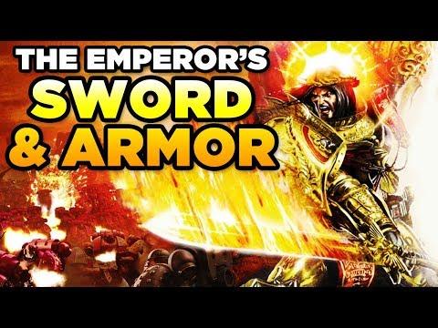 THE EMPERORS SWORD & ARMOR  WARHAMMER 40,000 LoreGear