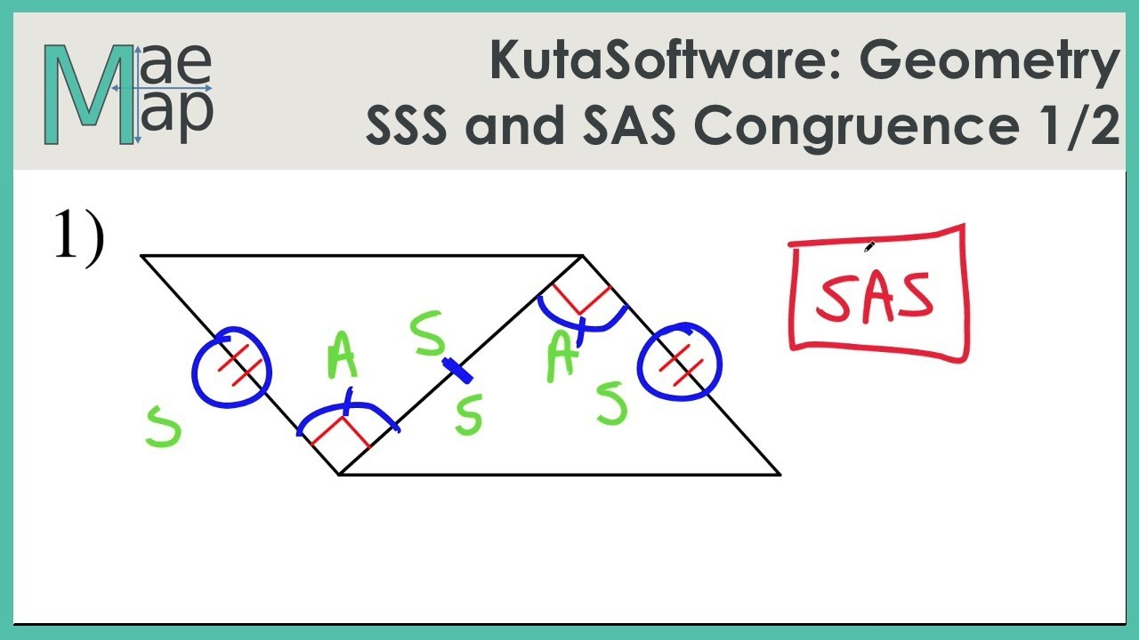 KutaSoftware: Geometry- SSS And SAS Congruence Part 1