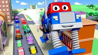 弹簧卡车 - 超级卡车卡尔在汽车城 🚚 ⍟ l 国语中文儿童卡通片 l Car City - Chinese Mandarin Cartoons for Children