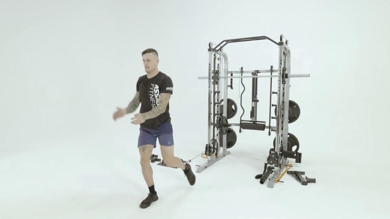 force usa monster commercial g9 krafstation functional trainer smith rack und beinpresse
