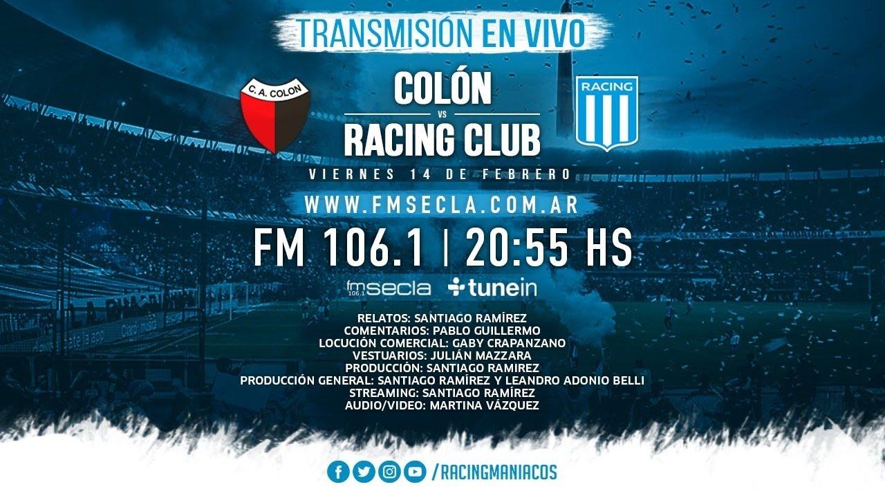 En Vivo Colón - Racing- Vivo Por Racing - Superliga Argentina