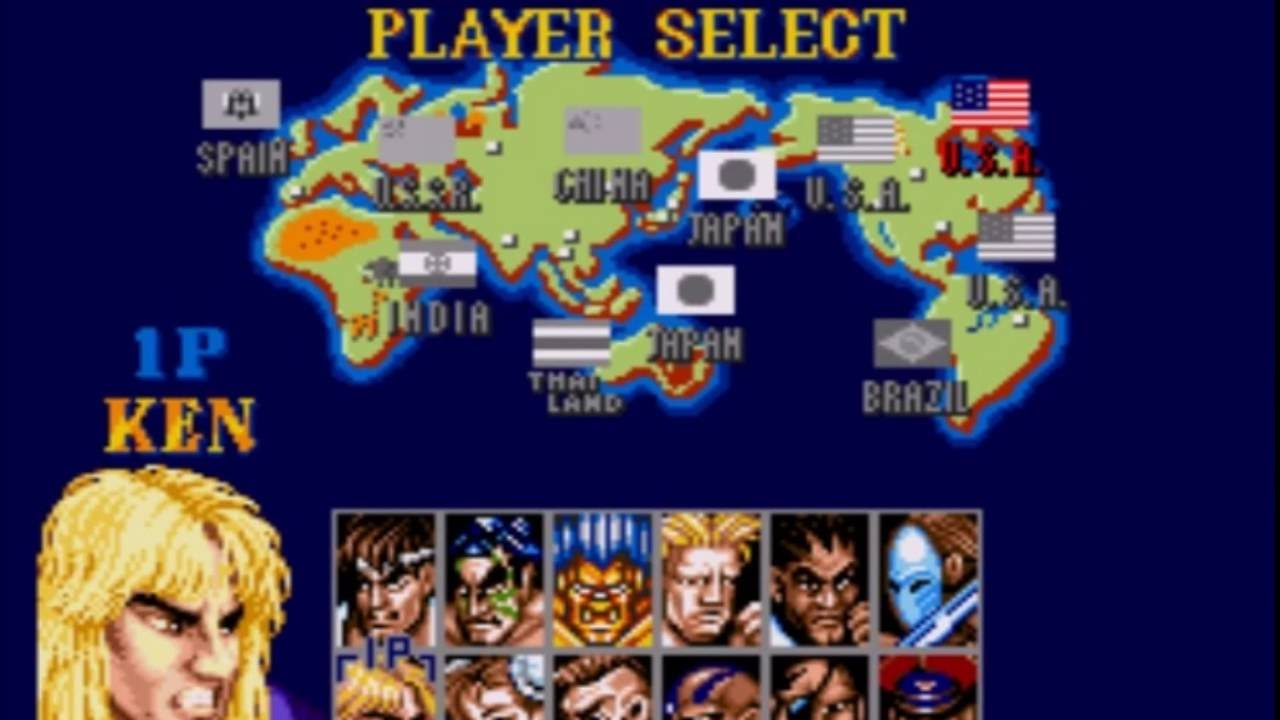 Street Fighter 2 Player Select Ii Youtube