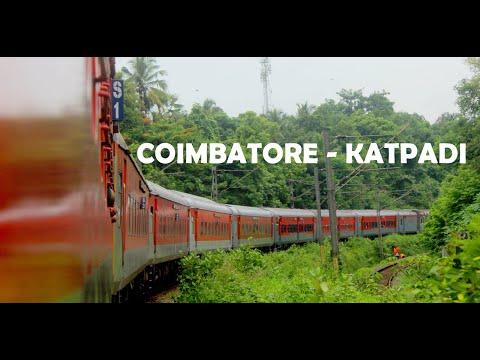 coimbatore-to-katpadi-via-yercaud-hills-|-high-speed-run-behind-wap4---tirunelveli-bilaspur-express