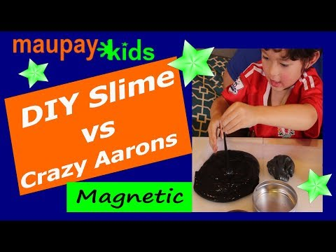 Magnetic DIY Slime with Powerful Magnets (vs Crazy Aarons)