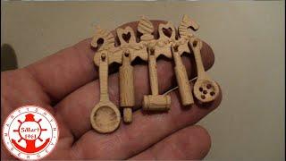 Резьба по дереву. Деревянная миниатюра масштаб 1/12  своими руками.