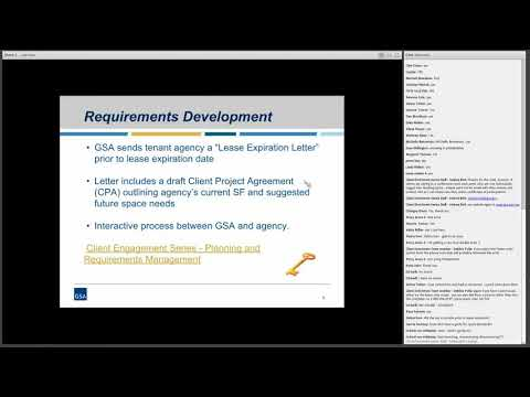 GSA PBS Client Enrichment Series - Back to Basics: The Leasing Process
