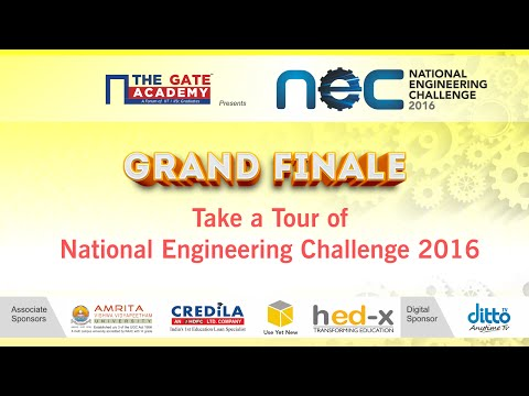 Take a Tour of National Engineering Challenge 2016 | NEC 2016 | THE GATE ACADEMY