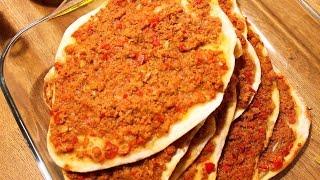 LAHMACUN - TÜRKISCHE PIZZA einfach lecker, beliebtes Rezept- Backrezepte CANANS REZEPTE