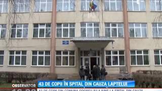 43 de copii au ajuns la spital din cauza laptelui primit la şcoala