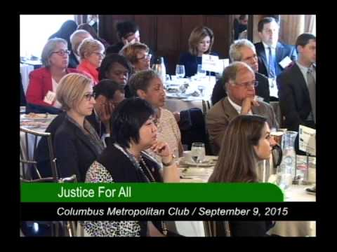 Columbus Metropolitan Club:  Pulling at the Roots of Poverty:  Justice For All  9/9/15