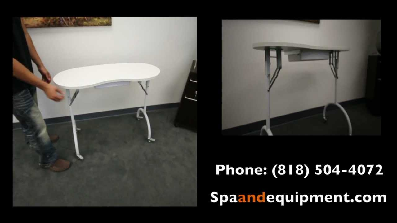 Portable Manicure Table (spaandequipment) - YouTube