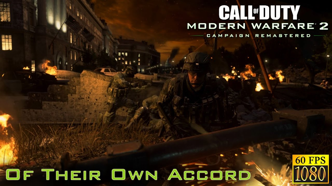 """Call of Duty: Modern Warfare 2 Remastered. Part 11 """"Of Their Own Accord"""" [HD 1080p 60fps]"""