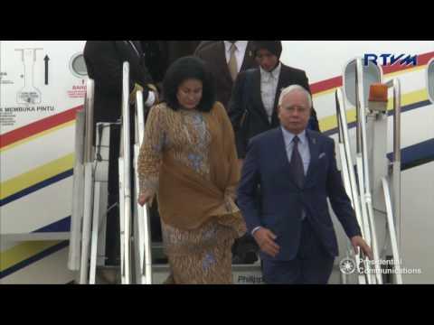 Arrival of Prime Minister Dato'  Sri Mohd Najib Tun Abdul Razak of Malaysia 4/27/2017