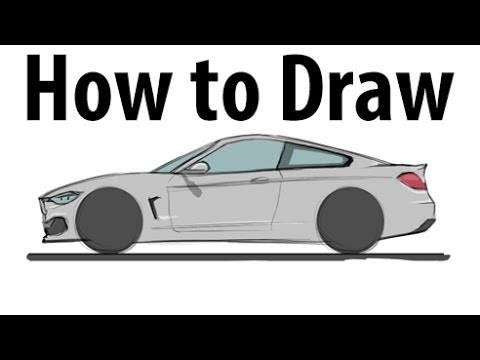 How To Draw A Bmw M4 Sketch It Quick