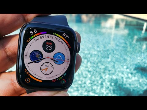 2018 @Apple Watch Series 4 LTE Cellular & GPS Pool Test (Watch Before Getting In The Water)