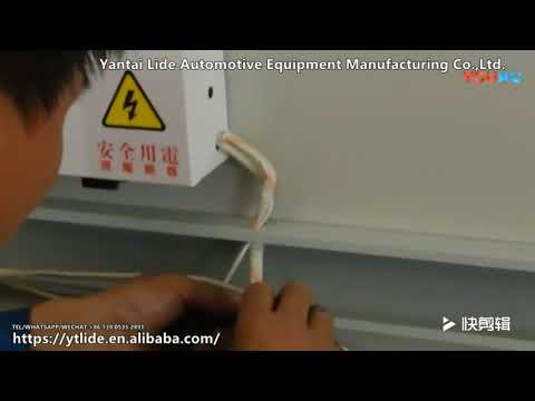 Electric heating paint room installation video