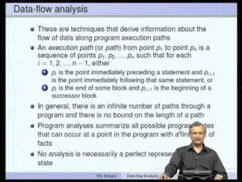 Mod-07 Lec-12 Introduction to Machine-Independent Optimizations-Part 2 Data-flow Analysis