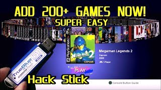 Add 200+ GAMES NOW to your PlayStation Classic with True Blue Mini Overdose Hack Stick. Super Easy!
