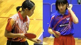 Mima Ito 伊藤美誠 vs Miu Kato 加藤美優 | 全日本カデット卓球2012