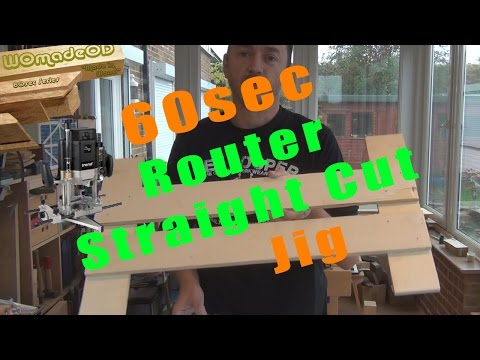 Straight Cut Jig for Router - 60s Series