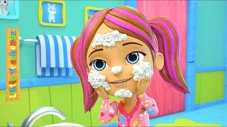 Here We Go Round The Mulberry Bush | Kids Nursery Rhymes Songs | Cartoons by Little Treehouse