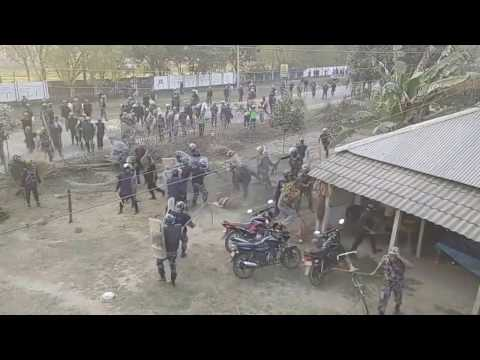 Terai Nepal's Saptari LIve Video leacked during the police shooting the Madhesi peoples