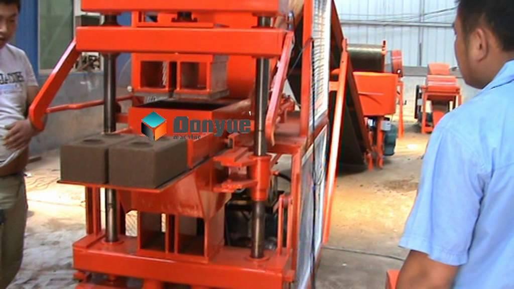 QTS2-10A Interlocking clay brick making machine, lego ...
