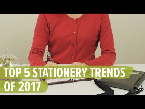 Top 5 Stationery Trends of 2017