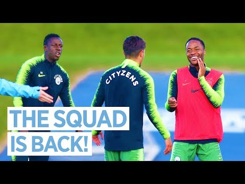 THE SQUAD GET READY FOR FULHAM | Training | City v Fulham