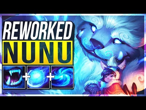NUNU REWORK IS ACTUALLY SO STUPID! Nunu Jungle Gameplay  League of Legends