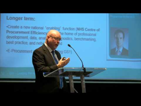 John Warrington, Department of Health - Presentation at NWC AHSN Procurement event