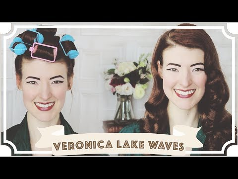 Glossy Veronica Lake Waves  How To Curl Your Hair CC