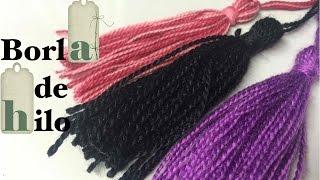 Tutorial para hacer borlas de hilo o flecos