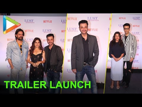 Karan Johar, Zoya Akhtar, Bhumi Pednekar at the trailer launch of LUST STORIES | FULL