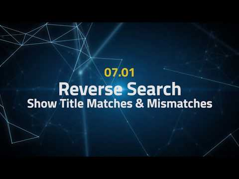 Tactical Arbitrage Instructions 07.01 - Reverse Search - Show Title Matches & Mismatches