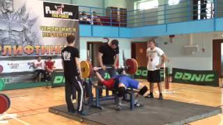 Чемпионат г Мегион по пауэрлифтингу жим 175кг  Керимов Д