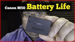 Canon M50 Battery Life