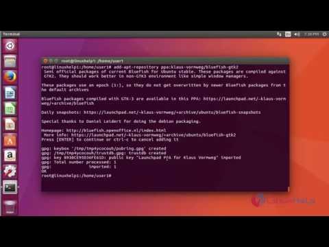 How To Install Bluefish Editor 2.2.10 On Ubuntu 17.04
