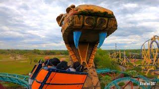 Cobra Spinning Roller Coaster - Busch Gardens Theme Park