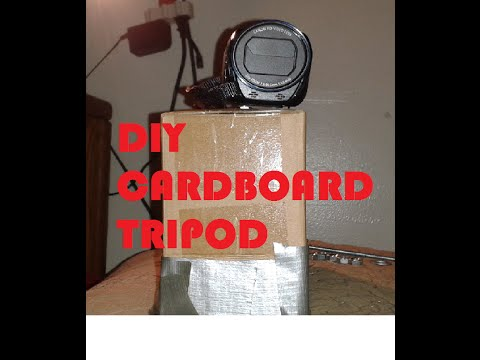 DIY Cardboard box tripod(with a metal screw,washers and nuts)