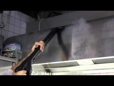 Novaltec group pulizia cappa con macchina a vapore modello pawnee