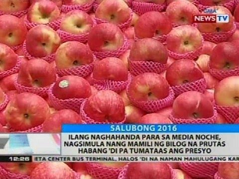Ilang Naghahanda Para Sa Media Noche, Nagsimula Mamili Ng Bilog Na Prutas