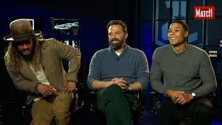 Justice League : Ben Affleck, Jason Momoa et Ray Fisher, la Dream Team a rencontré Match