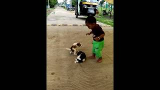 Ishaanya play with his cute friends