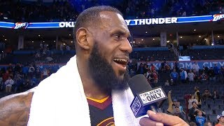 LeBron James Postgame Interview / Cavaliers vs Thunder